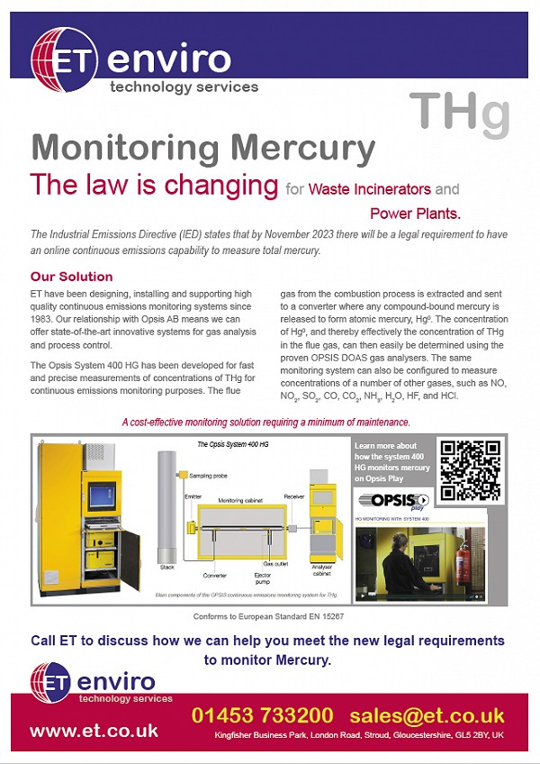 Mercury Monitoring - The law is changing for waste incinerators and power plants.