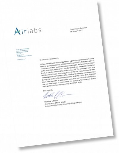 Airlabs letter
